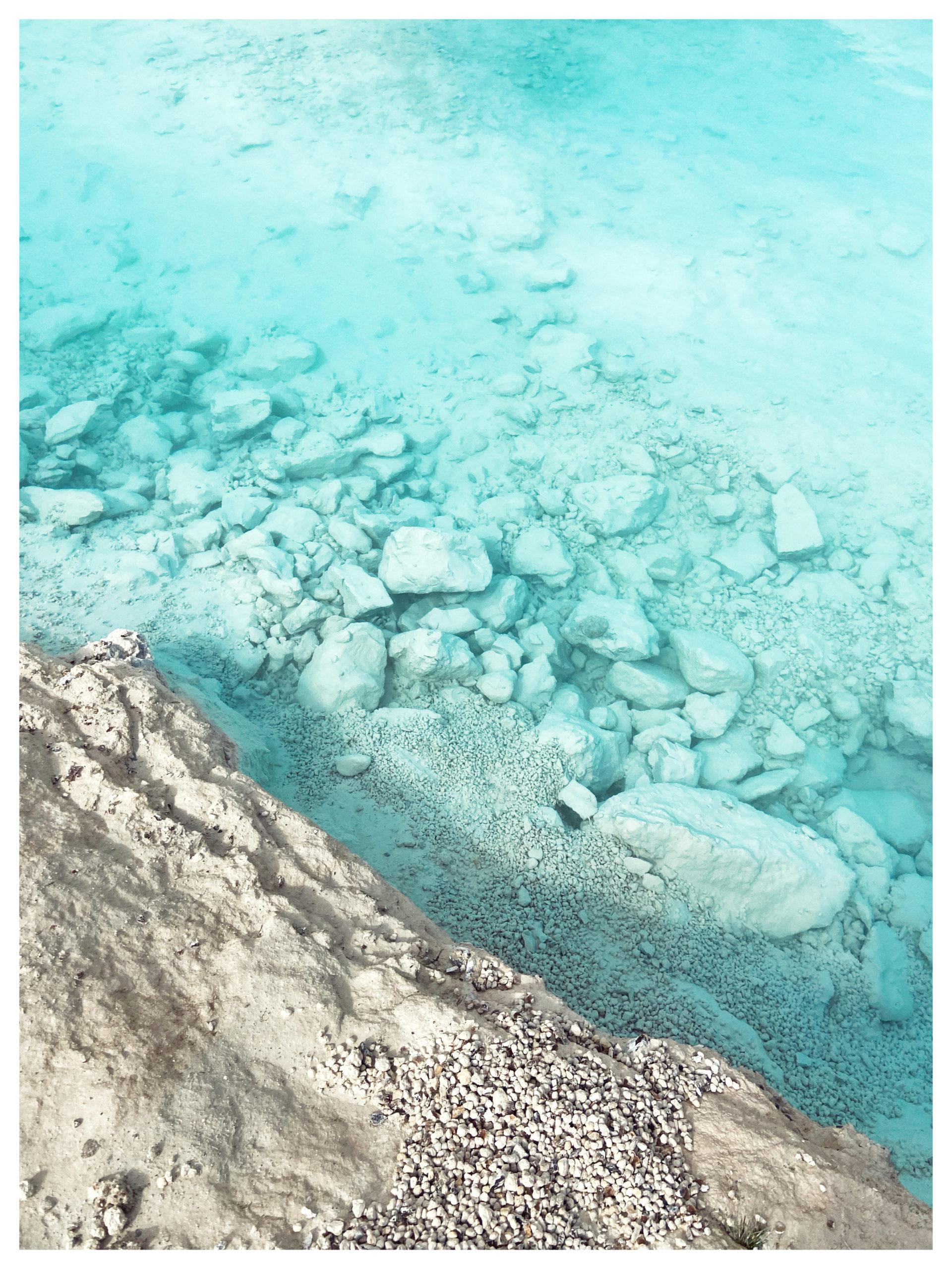 Krystalklart vand i Faxe Kalkbrud - Fotograf: Tenna Fonnesbo