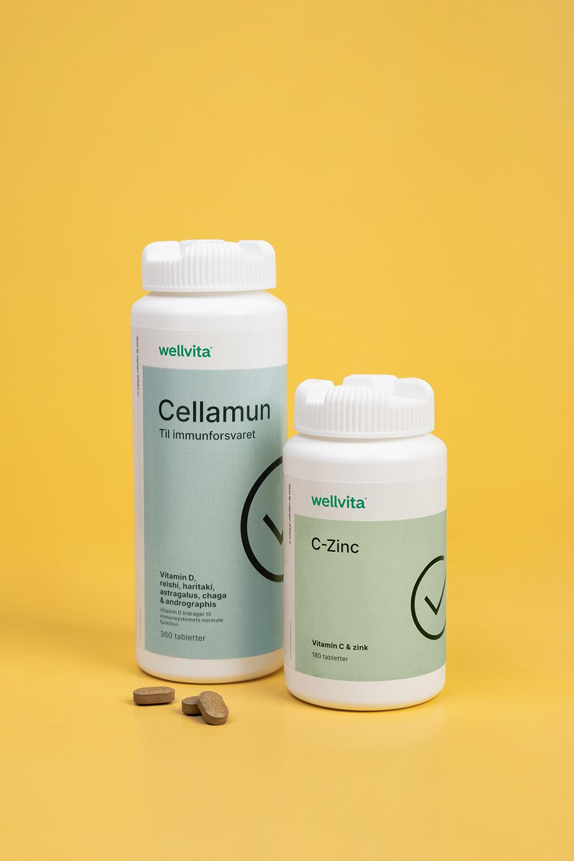 Wellvita Cellamun & c-zink vitamins. Photo: Tenna Fonnesbo
