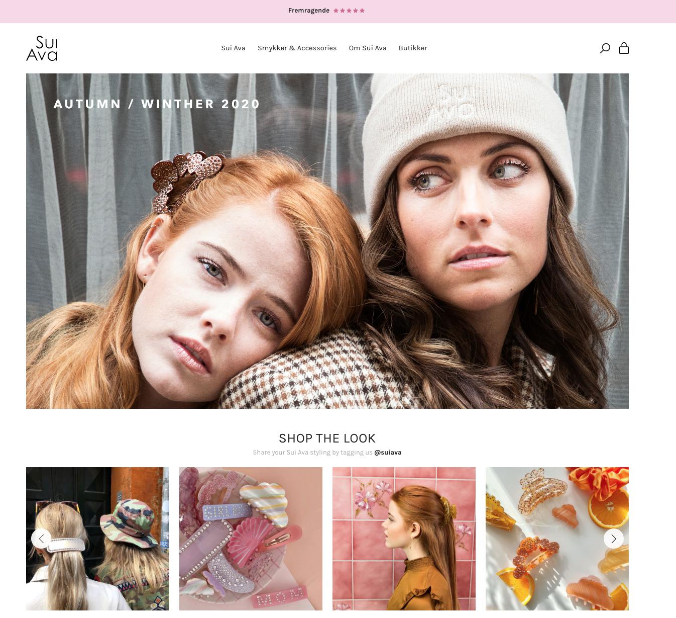 Sui Ava Vintage website - Fotograf: Tenna Fonnesbo
